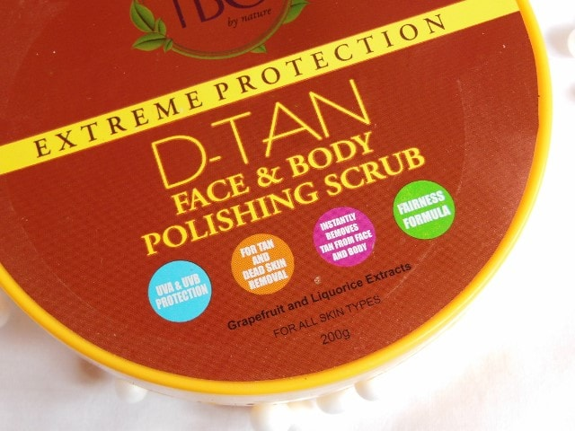 TBC By Nature D-Tan Face and Body Polishing Scrub Review