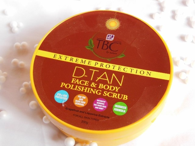 TBC By Nature D-Tan Face and Body Polishing Scrub