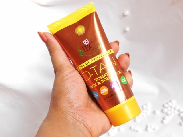 TBC By Nature D-Tan Tomato Face Pack Tube