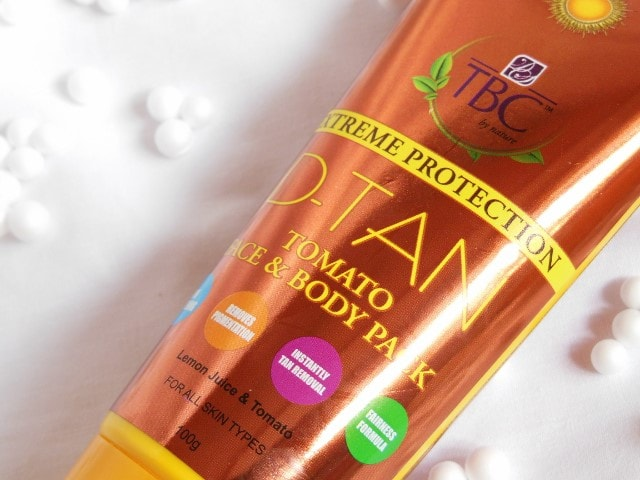 TBC By Nature De-Tan Tomato Face Pack