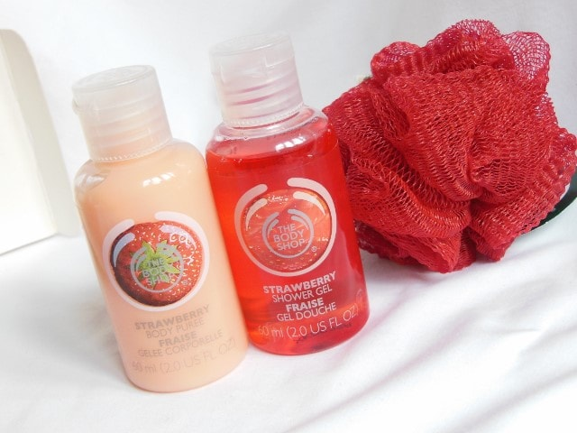 The Body Shop Strawberry Shower Gel and Body Puree Combo