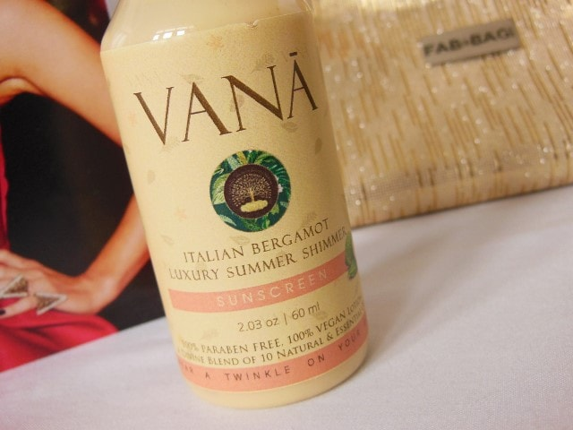 July Fab Bag - Vana Vidhi Luxury Summer Shimmer Sunscreen
