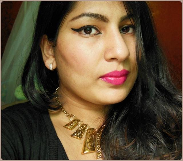 Maybelline Color Show Lipstick Fuchsia Flare Look