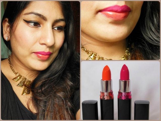 Maybelline Color Show Lipstick Fuchsia Flare and Orange Icon Look