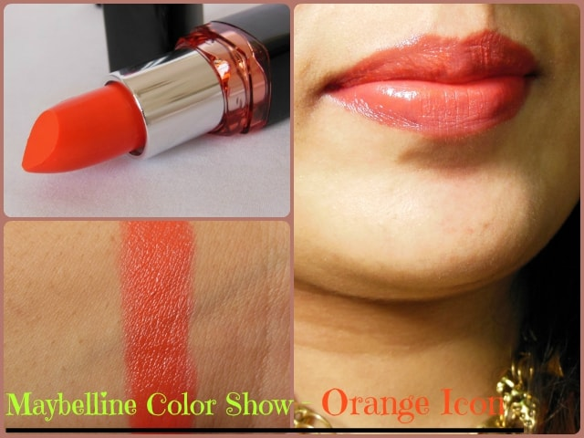 Maybelline Color Show Lipstick Orange Icon LIp Swatch