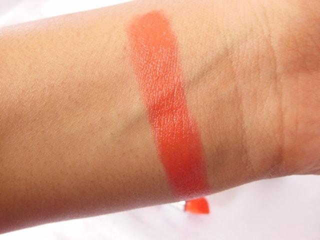 Maybelline Color Show Lipstick Orange Icon Swatch