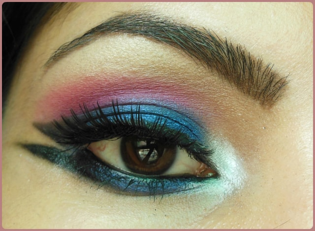 Blue Marina Eye Makeup Look
