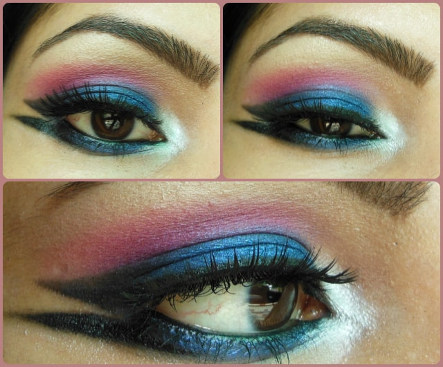 Blue Marina Eye Makeup