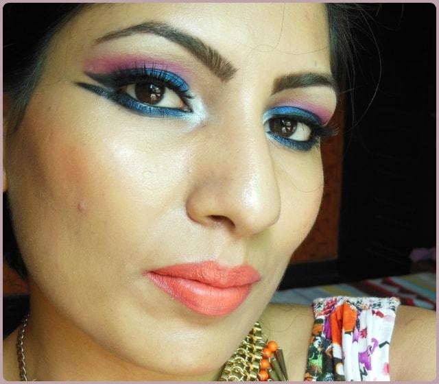 Blue Marina Makeup Look