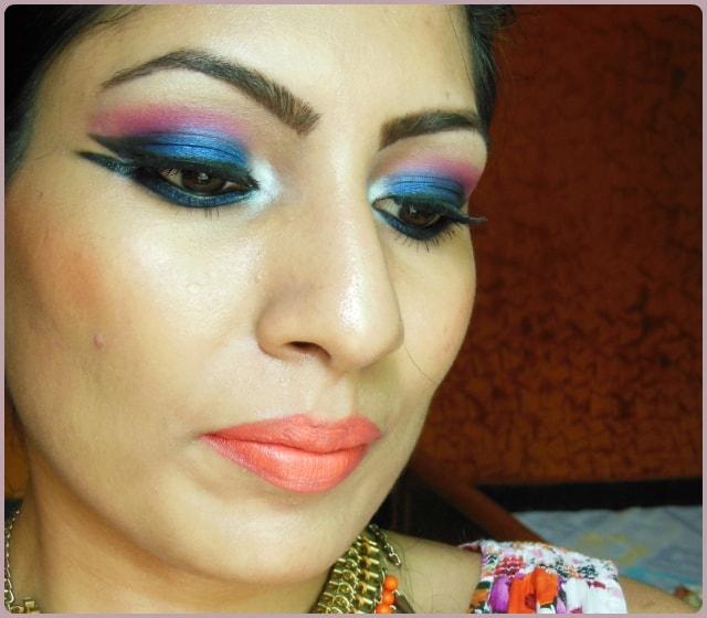 Color Blocking Eye Makeup Look