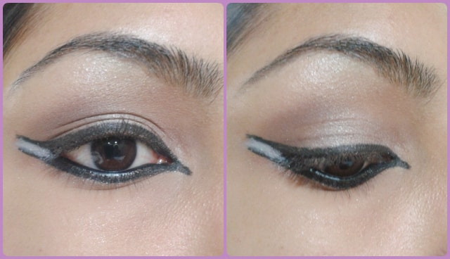 Dual Winged Eye Liner Look