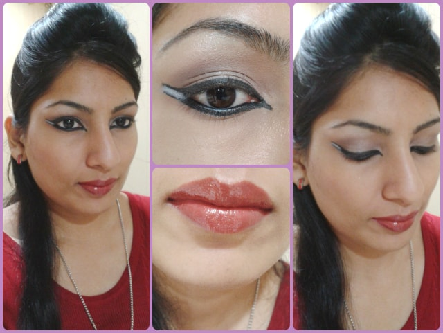Dual Winged Eye Liner Makeup Look