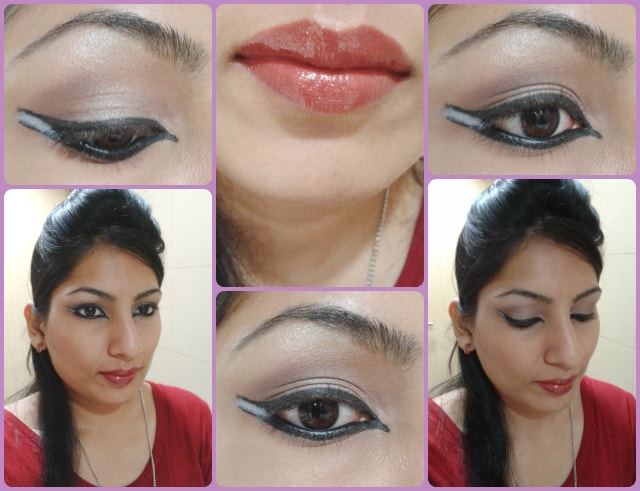 Dual Winged Liner Makeup Look