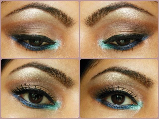 Eye Makeup Tutorial Pop of Blue Look