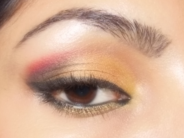 Gold and Pink Party Wear Eye Makeup Look3