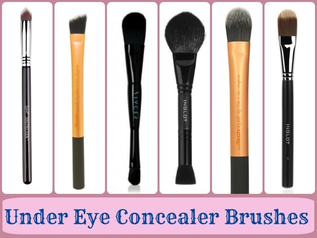 Makeup Brushes guide - Under eye concealer brushes