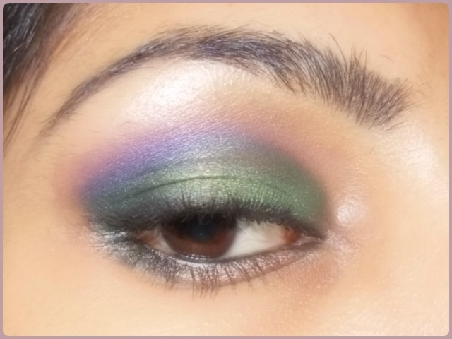 Orchid inspired Green and Purple Eye Makeup