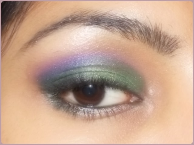 Orchid inspired Green and Purple Eyes