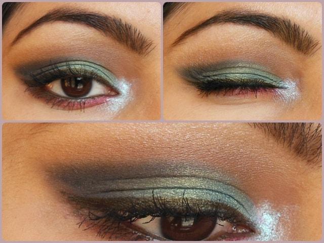 Peacock Blue Eye Makeup Look Tutorial