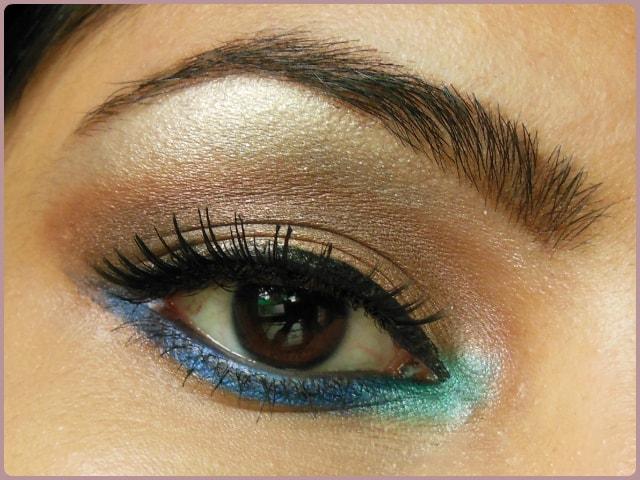 Pop Of Blue Eye Makeup Look