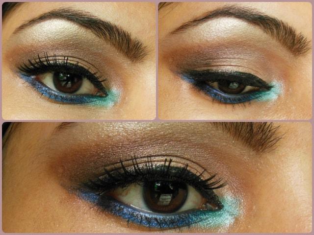 Pop Of Blue Eye Makeup Tutorial