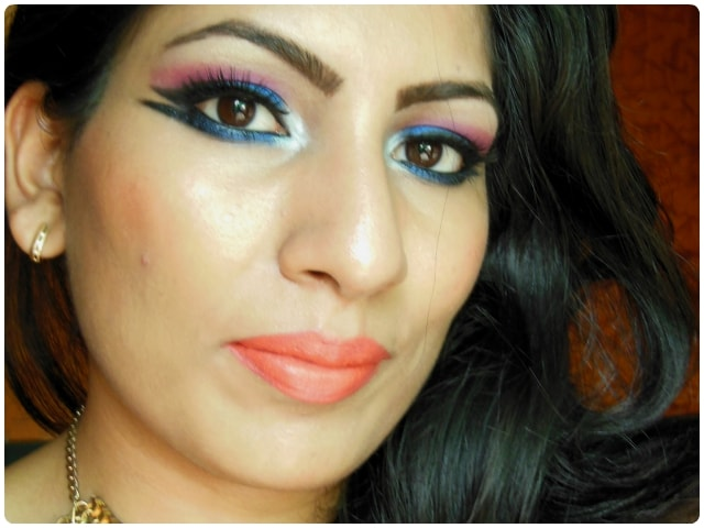 What Am I Wearing Today - Blue Marina Eye Makeup