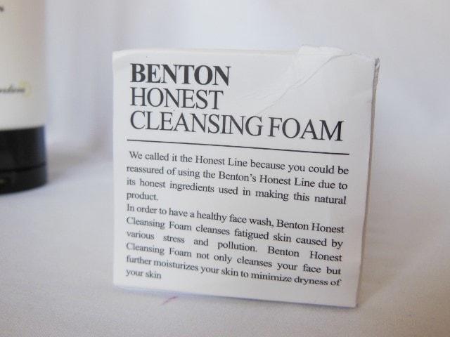 Benton Honest Cleansing Foam Claims