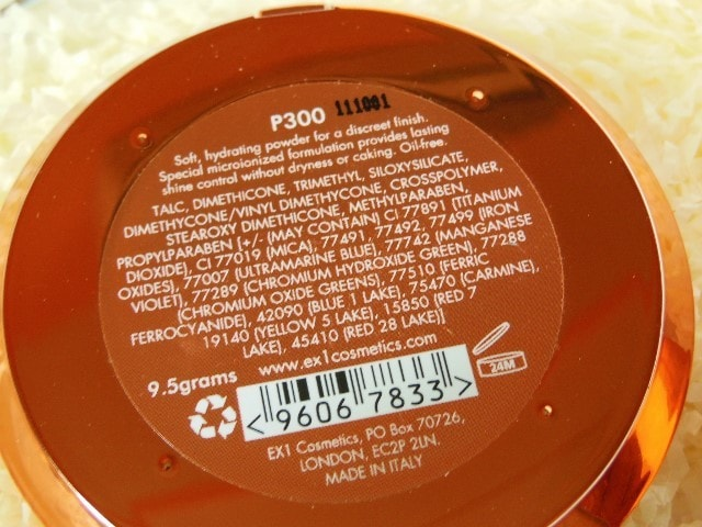 EX1 Cosmetics Invisiwear Compact Powder Ingredients