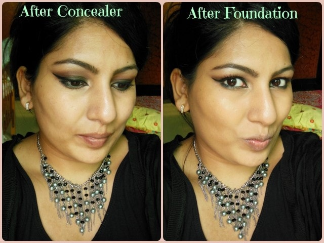 EX1 Cosmetics Invisiwear Foundation and Concealer Look