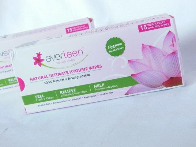 Everteen Natural Intimate Hygiene Wipes Packaging