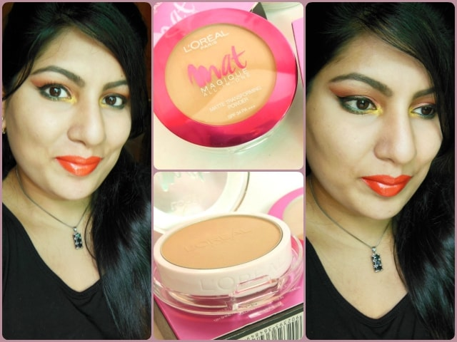 L'Oreal Mat Magique All In One Tranforming Powder SPF 34 FOTD