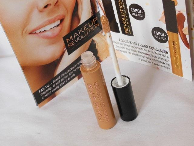 Makeup Revolution Focus & Fix Liquid Concealer Packaging