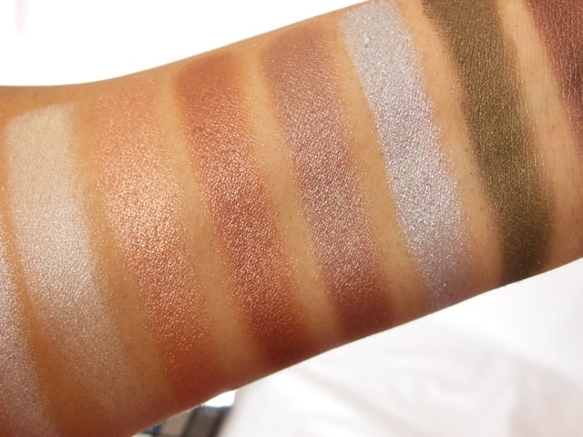 Makeup Revolution London Iconic Pro 2 Palette Row 2 Middle Shades Swatch