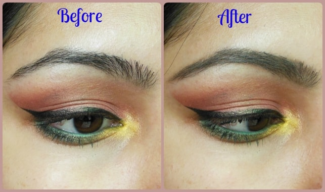 Maybelline Fashion brow Duo Shaper Brown Before and After