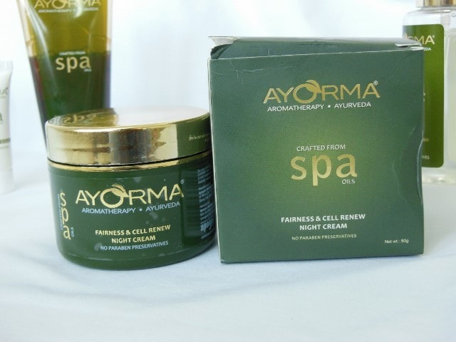 Ayorma Spa fairness and anti-tan Night Cream
