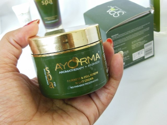 Ayorma Spa fairness and anti-tan Night Cream Jar