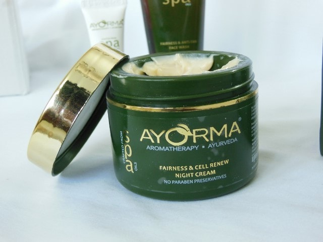 Ayorma Spa fairness and anti-tan Night Cream Packaging