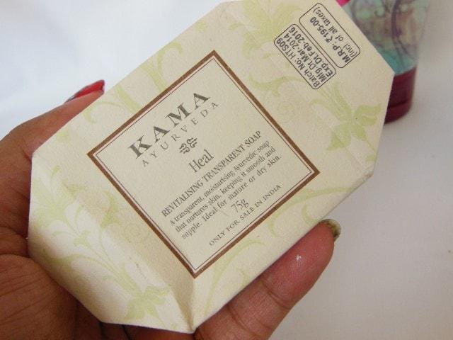 Finally Finished September 2015 - Kama Ayurveda Revitalising Transparent Soap