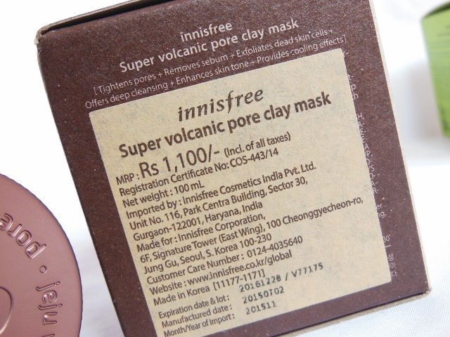 Innisfree Super Volcanic Pore Clay Mask Price