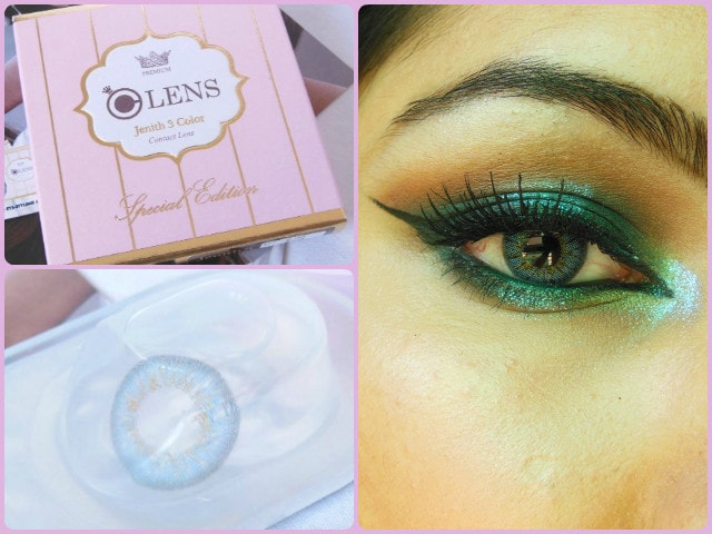 Olens Jenith 3 Color Contact Lens Blue Look
