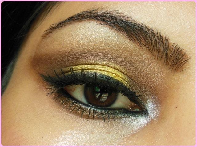 Bronze and Yellow Eye Makeup