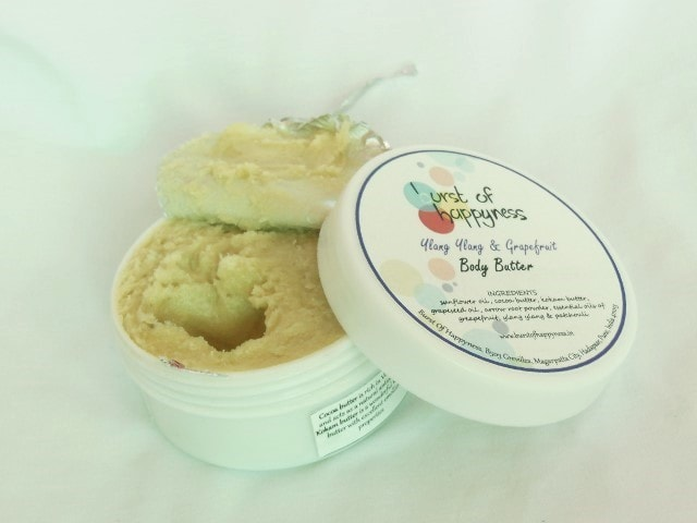 Burst Of Happyness Ylang Ylang and Grapefruit Body Butter Packaging