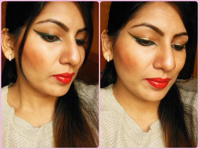 Dual Colored Eye Liner Makeup Look
