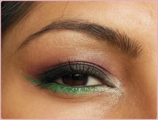 Eye Makeup - Pop Of Green