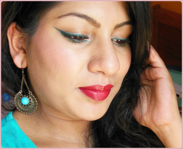 Festive Makeup Look with Red Lips