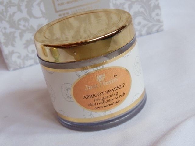 Just Herbs Apricot Sparkle Face Scrub Review