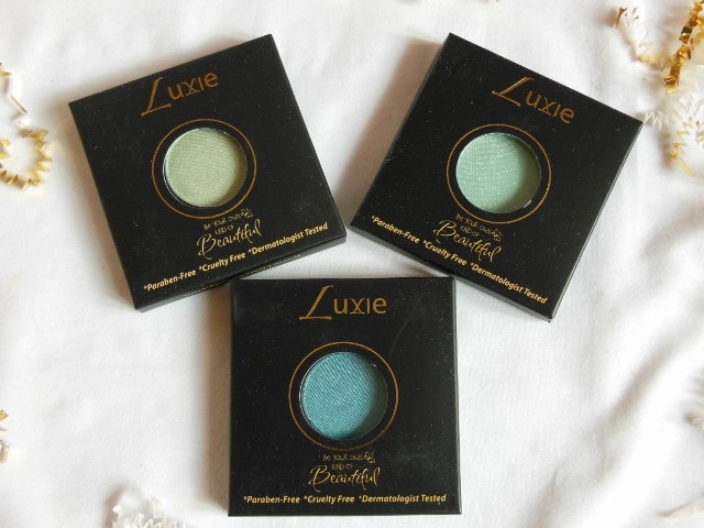 Luxie beauty Haul -Green Eye Shadows