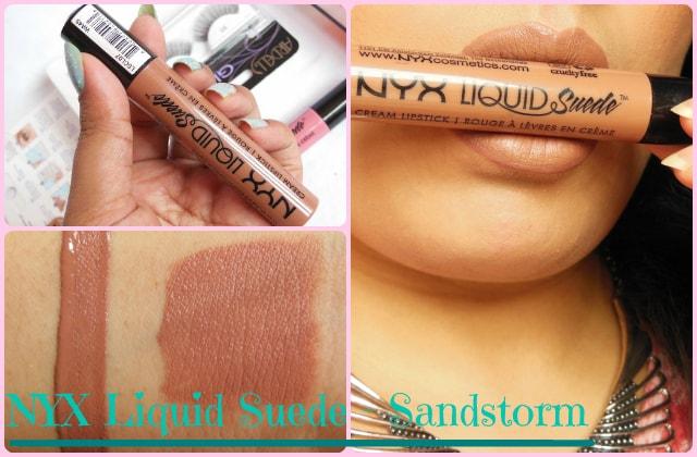 NYX Liquid Suede Cream Lipstick Sandstorm Look