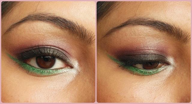 Pop Of Green Eye Makeup