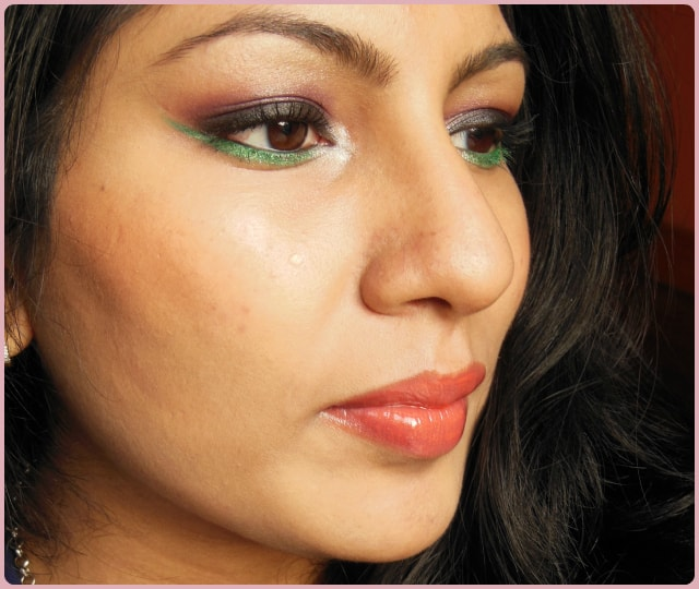 Pop Of Green Makeup